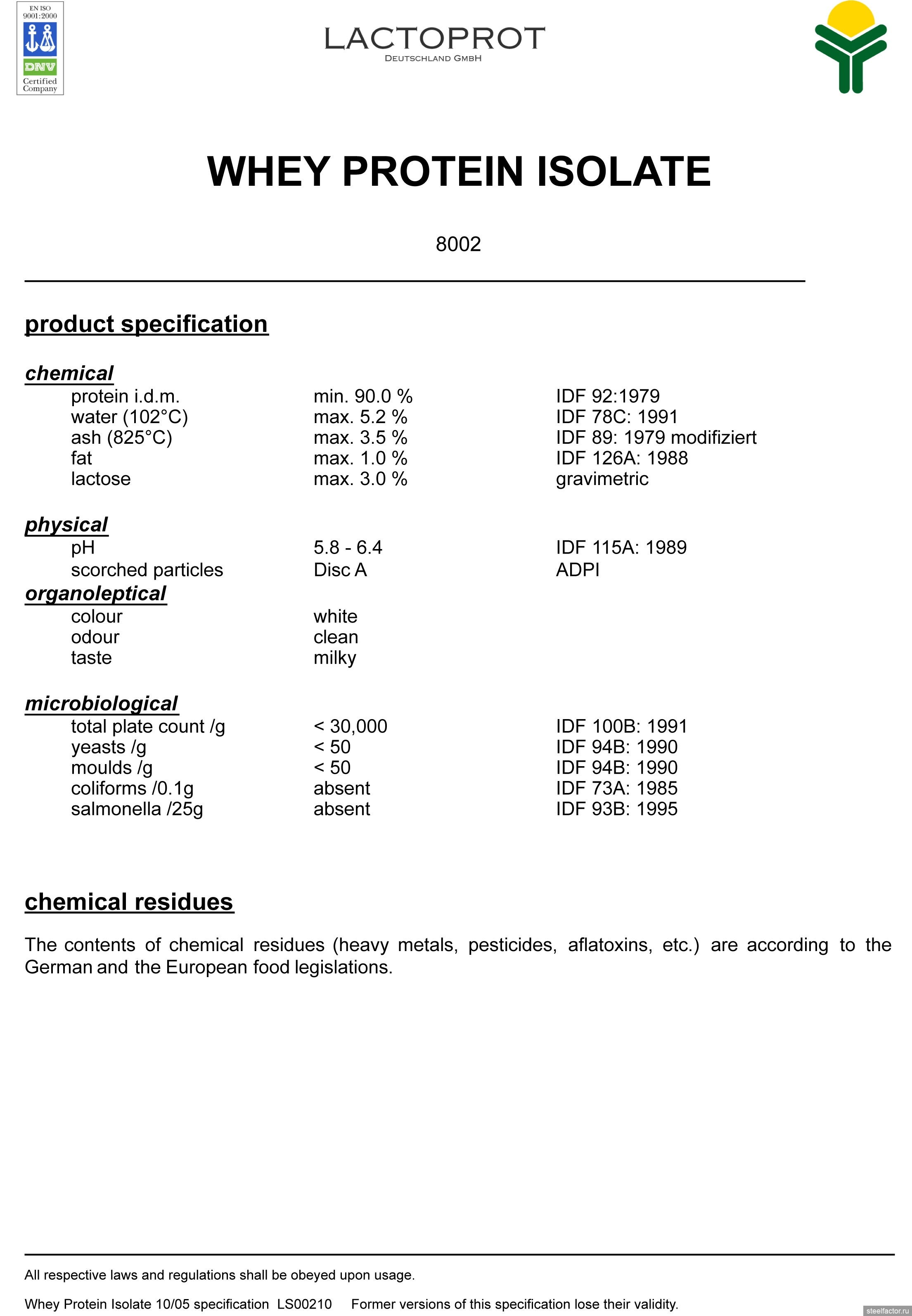 Reviews Lactomin 80: description of the protein and its features 90